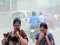 Dust on Hyderabad roads rises beyond safe limits