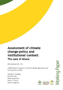 Assessment of climate change policy and institutional context: the case of Ghana