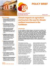 Climate impacts on agriculture and tourism: the case for climate resilient investment in the Caribbean