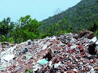 Pollution panel to monitor demolition waste disposal