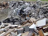 Illegal debris dumping on mangroves at shipyard plot?