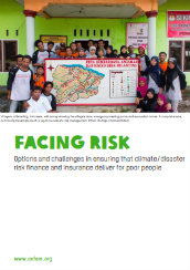 Facing risk: options and challenges in ensuring that climate/disaster risk finance and insurance deliver for poor people