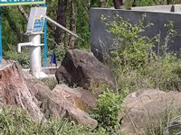 In Etah, hand pump spews 'black' fluid