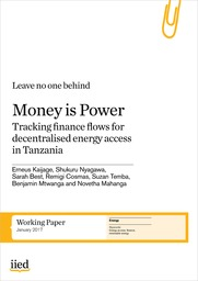 Money is power: tracking finance flows for decentralised energy access in Tanzania