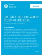 Putting a price on carbon: reducing emissions