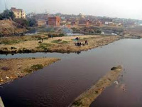 No one takes charge of Hindon as filth flows in it