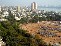 How were speakers allowed at Shivaji Park?