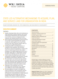 State-led alternative mechanisms to acquire, plan, and service land for urbanisation in India