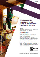 Supporting private adaptation to climate change in semi-arid lands in developing countries