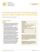 The production and use of waste-derived renewable natural gas as a climate change in the United States