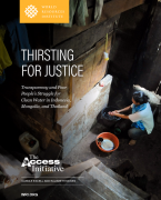 Thirsting for justice: transparency and poor people's struggle for clean water in Indonesia, Mongolia, and Thailand