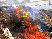 Fire engulfs Surat Municipal Corporation's waste godown