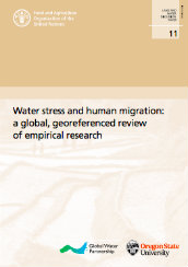Water stress and human migration: a global, georeferenced review of empirical research