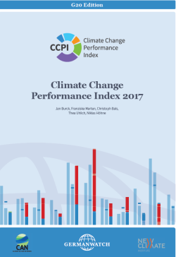 Climate change performance index 2017: G20 edition