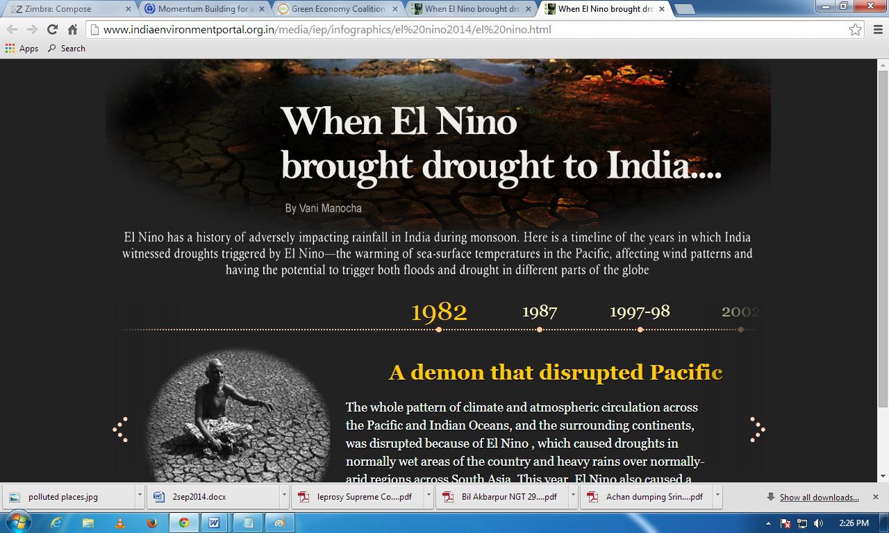 When El Nino brought drought to India