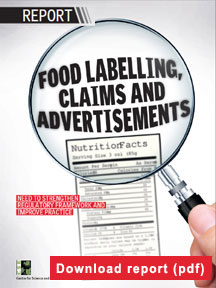 Food labelling, claims and advertisements