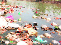 Plant on anvil to recycle Yamuna's puja waste