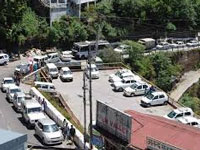 Pedalling hard for bicycles on Mall Road in Mussoorie