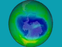 Ozone layer that started depleting in 1980s healing