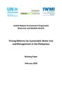 Pricing reforms for sustainable water use and management in the Philippines