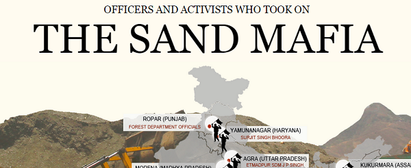 Officers and activists who took on the sand mafia