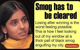 Smog has to be cleared