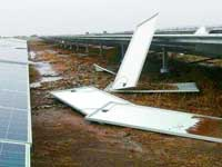 Kurnool: Gales damage world's largest solar park