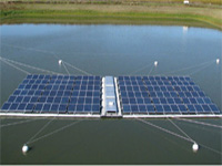 Floating solar power plant project begins at Mudasarlova reservoir