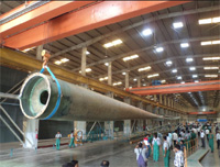 Suzlon Group produces 54.8 meters long blade for the new generation S111 2.1 MW wind turbine